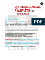 Shajra-E-Nasab (Genealogy)  of Rajput Caste by Ch.S.K.NIAZ and CH.MUKHTAR AHMAD NIAZ CHAK BELI KHAN Managed By Ch.Shaheer Ali Niaz (Mob:923009886001)