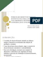 Índices de desenvolvimento sustentável para localidades