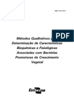 Métodos quantitativos para determinação de características bioquímicas e fisiológicas associadas com bactérias promotoras de crescimento vegetal - Embrapa