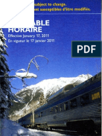 VIA Rail 2011 Timetable