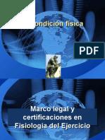 1.Marco Legal y Certificaciones en Fisiologia Del Ejercicio