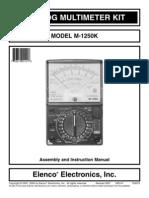Elenco m 1250k Manual