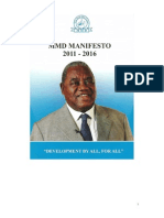 Movement for Multi-Party Democracy Manifesto 2011-2016
