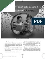Chayenu article in Shvat issue of N'shei- www.nsheichabadnewsletter.com