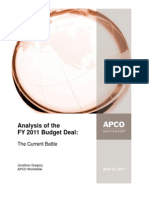 Analysis of the FY 2011 Budget