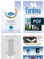 April 24, 2011 Cordova Church Bulletin