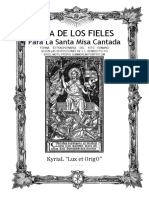 GUÍA DE LOS FIELES PARA LA SANTA MISA CANTADA. Kyrial Lux et Origo 2018