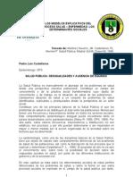 Los Determinates Sociales -Pedro Caste Llanos