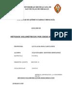 MÉTODOS VOLUMÉTRICOS POR OXIDO REDUCCIÓN