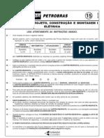 PROVA 15 - PROJETOS, CONSTRUÇÃO E MONTAGEM I - ELÉTRICA