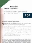 Politeness - Some Universals in Language Usage[1]