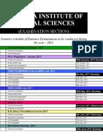 AIIMS Exams Schedule