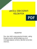 Jenis & Demografi Kelompok