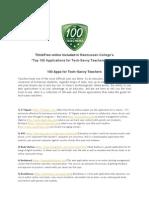 100 Teaching Applications for Teachers