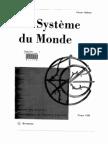 Le système du monde - Histoire des doctrines cosmologiques de Platon à Copernic. Tome 8