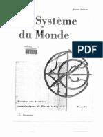 Le système du monde - Histoire des doctrines cosmologiques de Platon à Copernic. Tome 9