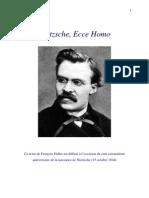 Ecce_homo  Cours de François Fédier, professé pendant l'année 1977-1978