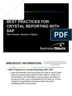Cystal Report With Sap
