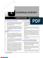 Current Affairs Pre 2011 National Events Constitution Watch