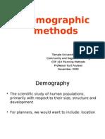 Demographic Methods