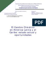 El Cambio Climático en América Latina y el Caribe
