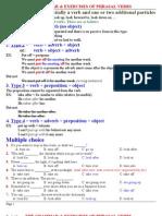 Phrasal Verbs Exercises Key