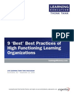 9 Best Best Practices of High Functioning Learning Organizations[1]
