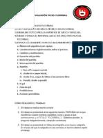 GUIÓN TRABAJO DE LA 3º EVALUACIÓN  FLOORBALL