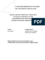 17368896 8201172 Study of Consumer Behaviour Towards Nestle and Cadbury Choclates