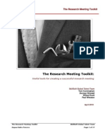 The Research Meeting Toolkit