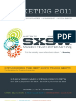 SXSW 2011 Marketing Brochure