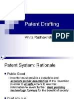 "A Presentation on ""Patent Drafting"" by Ms. Vinita Radhakrishnan"