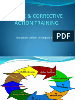 Cause & Corrective Action Traininga