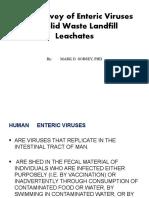 Field Survey of Enteric Viruses