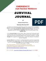 SURVIVAL JOURNAL Truth About Fuchiama Emergency 23.4
