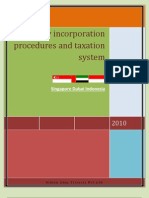 Company Incorporation Procedures and Taxation System In
