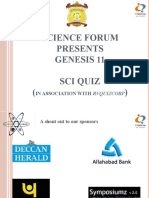 Genesis 2011 Sci Quiz Prelims Questions