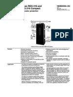 1mdb02005-En en Reg 216 Reg 216 Compact Generator Protection