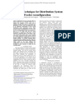 A Novel Technique for Distribution System Feeder Re Configuration