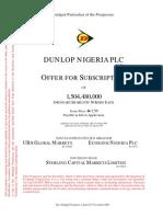 Dunlop Abridged Prospectus