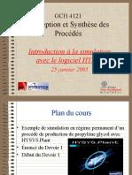Cours SimulationHYSYS-25janv2005