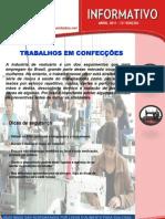 13º EDIÇÃO - TRABALHOS EM CONFECÇÕES