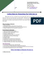 Guide Memorizing Quran