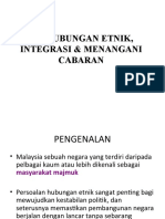 Hubungan Etnik, Integrasi & Menangani Cabaran