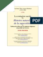 D'Holbach - La Contagion Sacrée - Tome Premier