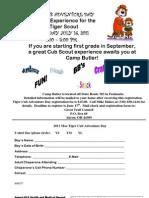 2011 Tiger Cub Adventure Day Registration Form