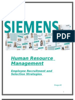 SIEMENS Employee Recruitment and Selection Strategies