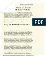Faith in Gods and in God - H. Richard Niebuhr