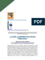 ¿A qué llamamos políticas públicas? - Autor