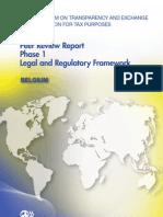 Peer Review Report Phase 1 Legal and Regulatory Framework - Belgium